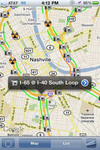 Tennessee Traffic Map