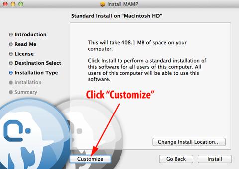 MAMP Installer Step 1